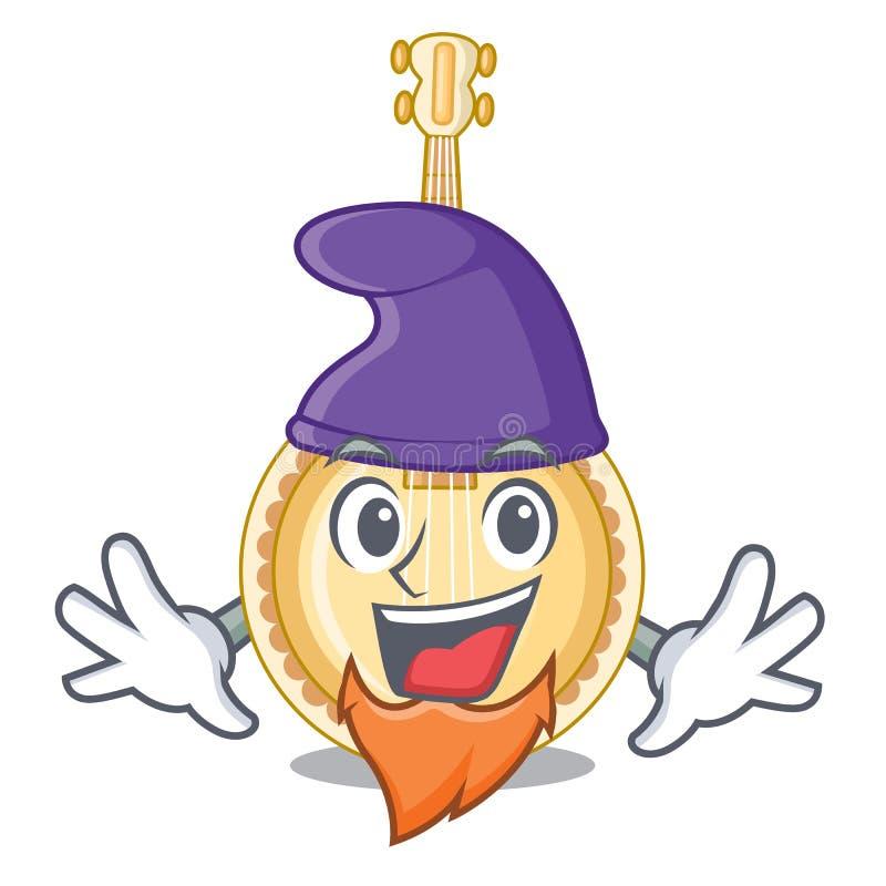 Banjo velho do duende na mascote da forma ilustração royalty free