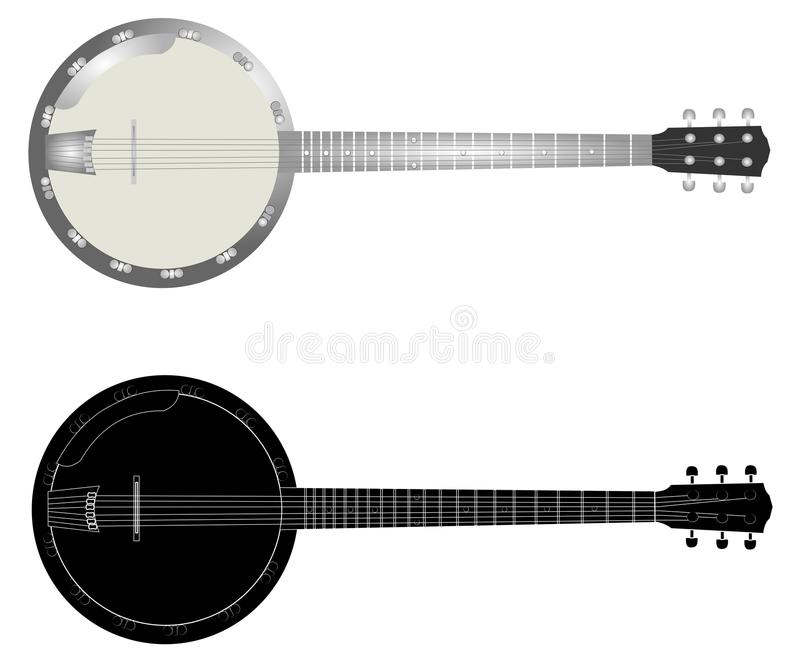 banjos illustration de vecteur