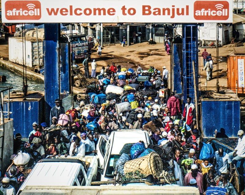 Banjul Ferry Terminal, Gambia royalty free stock image