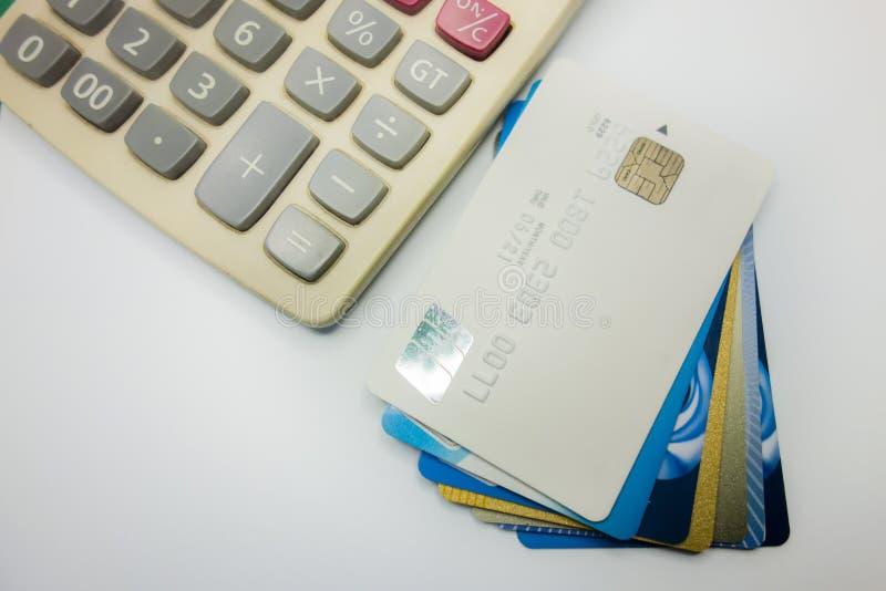 Banków kalkulatorzy i fotografia royalty free
