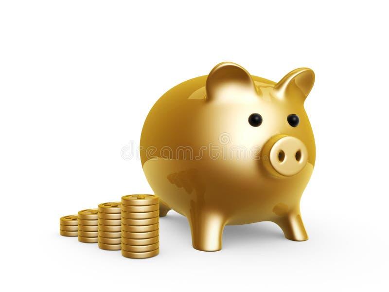 bank świnia royalty ilustracja