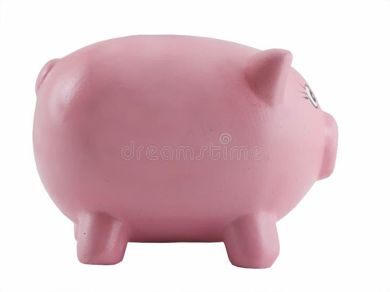bank świnka odizolować różowy fotografia royalty free