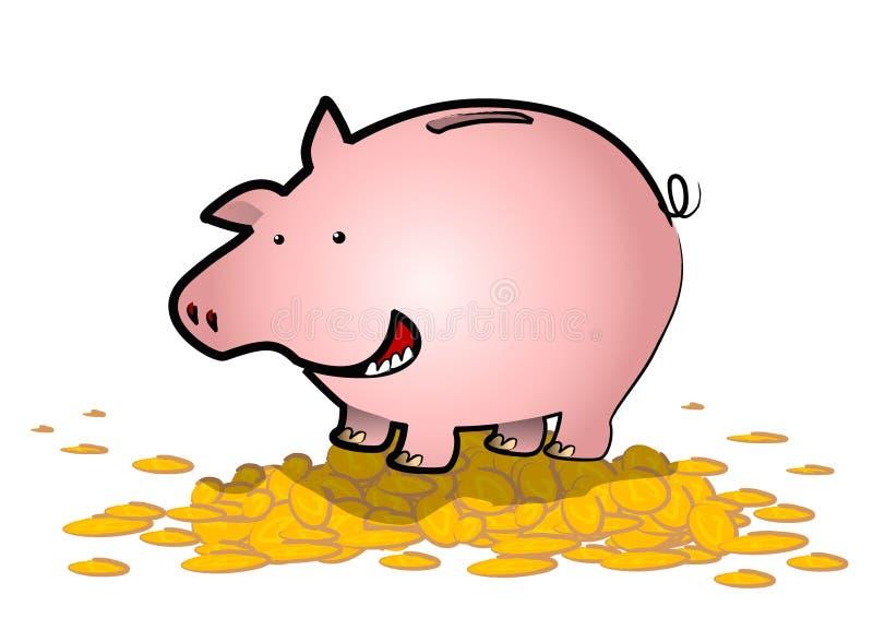 bank żyły złota Świnka. ilustracja wektor