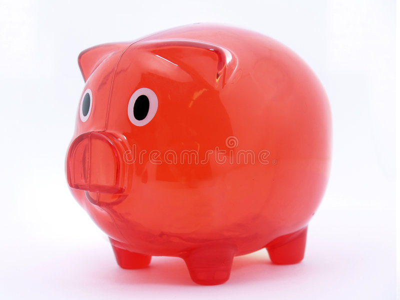 Bank. Empty Piggy bank or money-box on a white studio background with path royalty free stock photography
