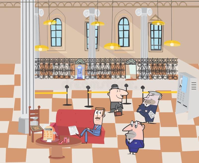 The bank royalty free illustration