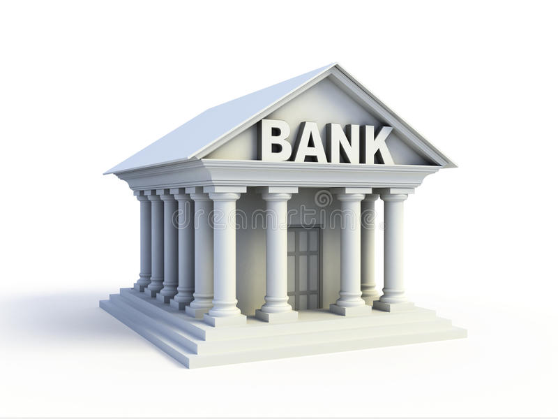 Bank 3d icon stock illustration