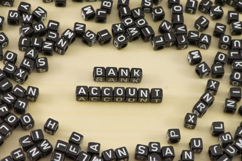 The bank account. The concept of the word bank account royalty free stock photos
