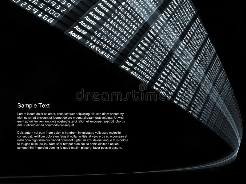 Download Bank Account Stream stock illustration. Image of speed - 16442394