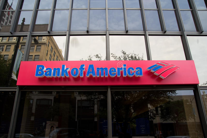 Bank of America royalty free stock photography