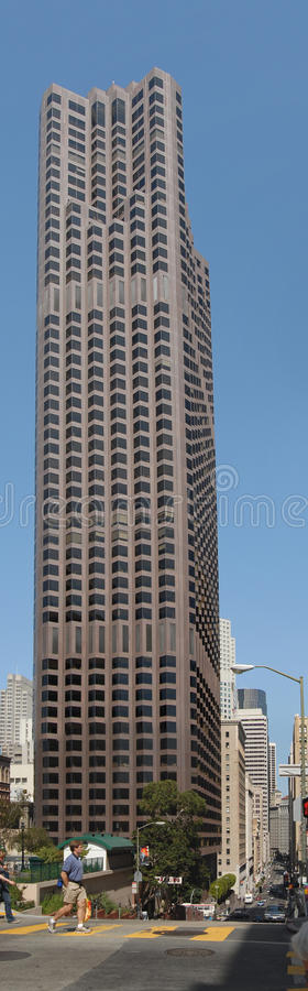 Bank of America Center. SAN FRANCISCO - AUGUST 7: 555 California Street skyscraper in San Francisco, California, also called Bank of America Center as seen on royalty free stock images