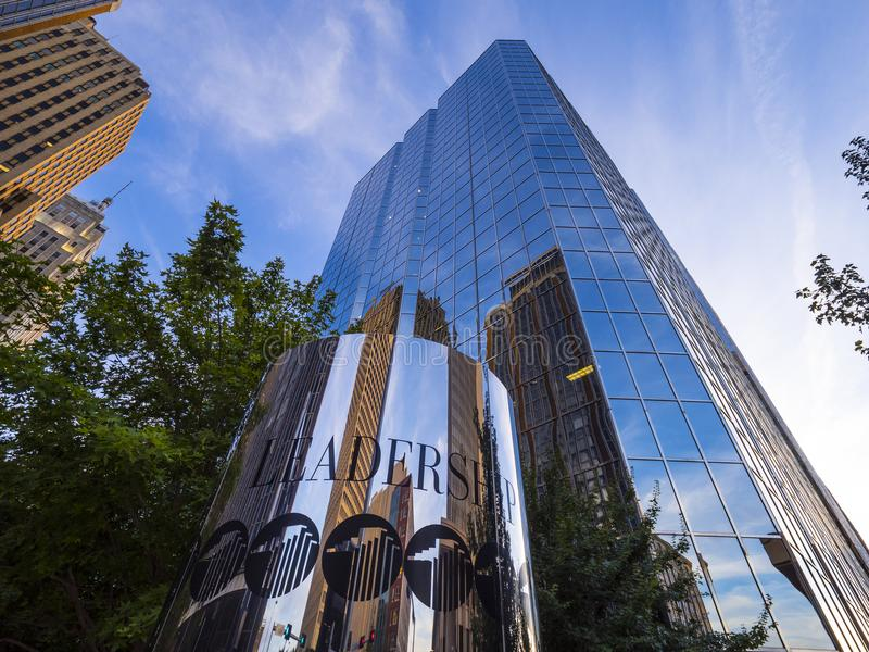 Bank of America office towers in Oklahoma City - OKLAHOMA CITY - OKLAHOMA - OCTOBER 18, 2017 stock photography