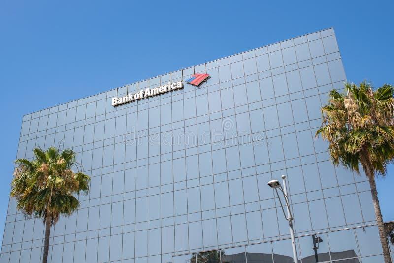 Bank of Americabyggnad i Beverly Hills royaltyfri fotografi