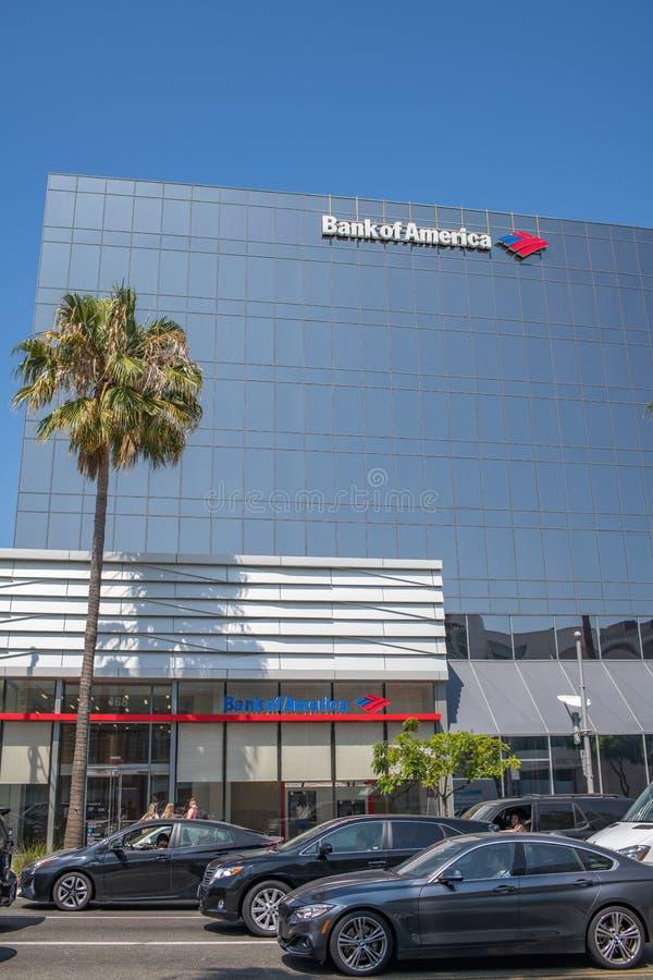 Bank of Americabyggnad i Beverly Hills royaltyfria foton