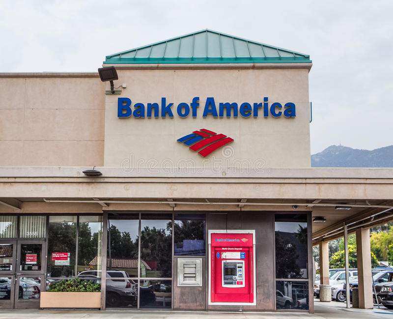 Bank of Amerika-Äußeres lizenzfreies stockbild