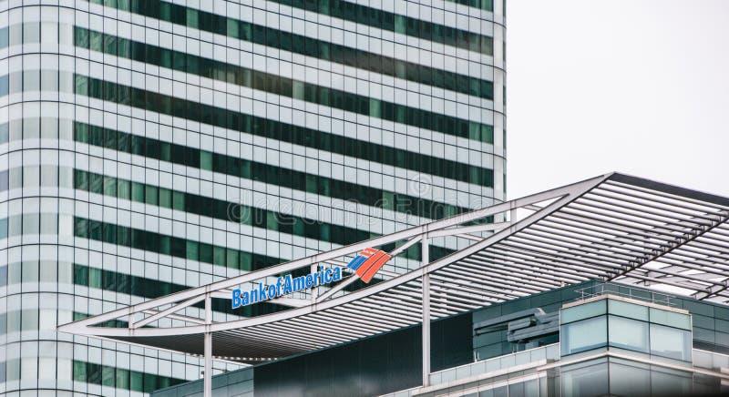 Bank of Amerika-Gebäude stockfoto