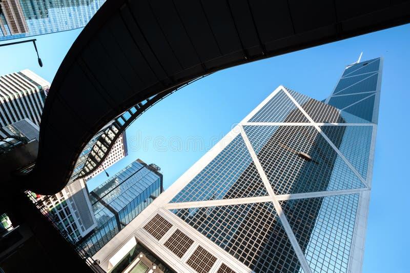 Bank av det Kina tornet, Hong Kong arkivbild