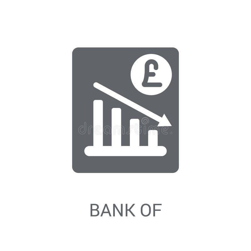 Bank av England symbolen för inflationrapport  stock illustrationer