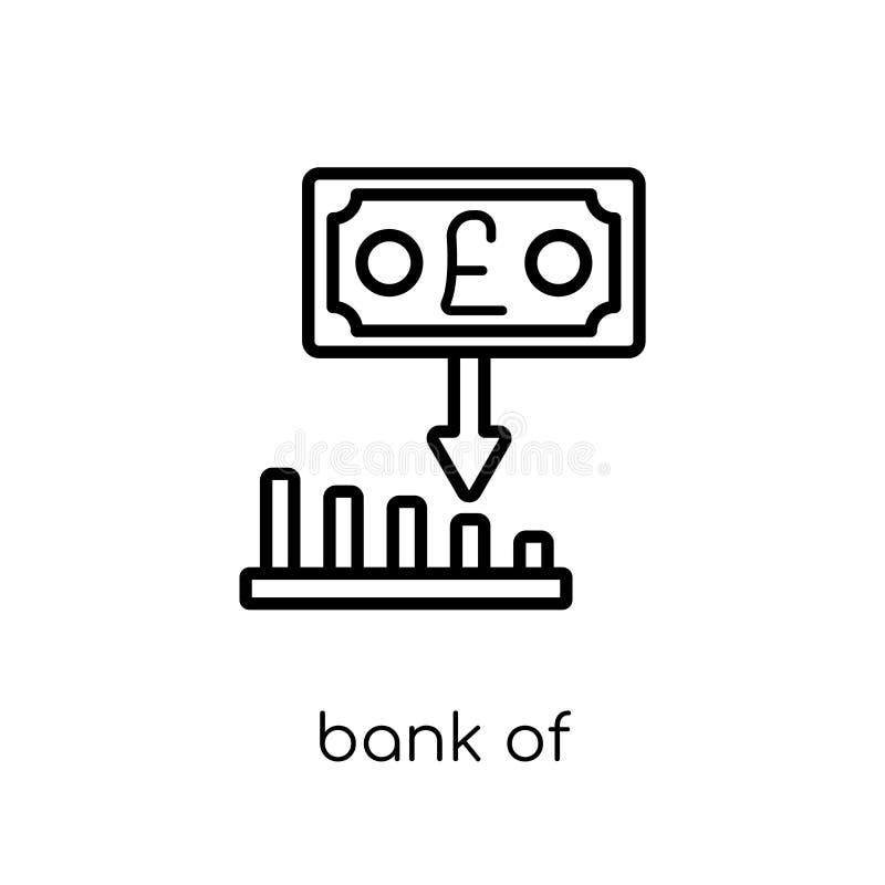 Bank av England symbolen för inflationrapport från banken av England I vektor illustrationer