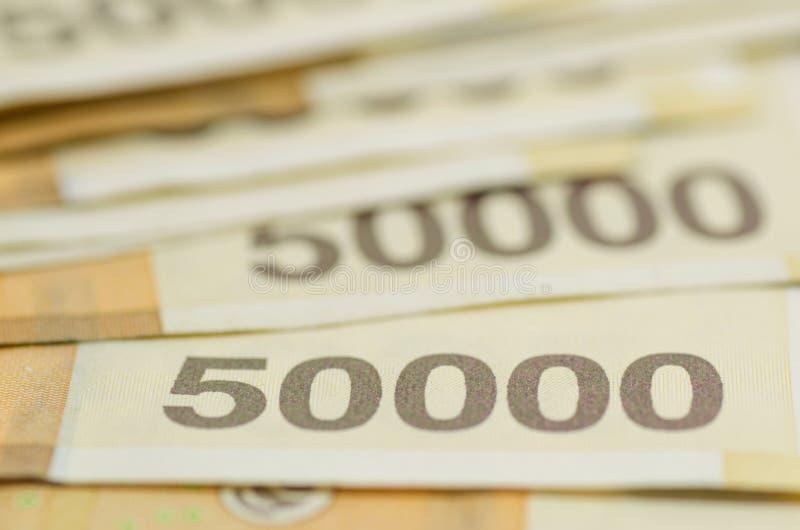 Bank av segrade Korea 50000 royaltyfria bilder