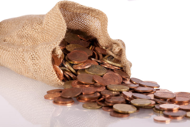 Download Bank in Bag stock photo. Image of coin, symbol, euro - 12248296