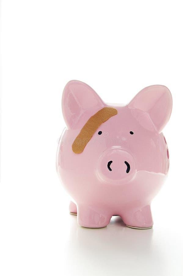 bank bandaid świnka obrazy stock