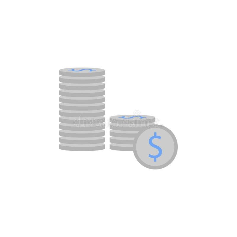 Bank, bankowość, finanse, monety, pieniądze, wprowadzać na rynek dwa koloru błękitną i szarą ikonę ilustracja wektor