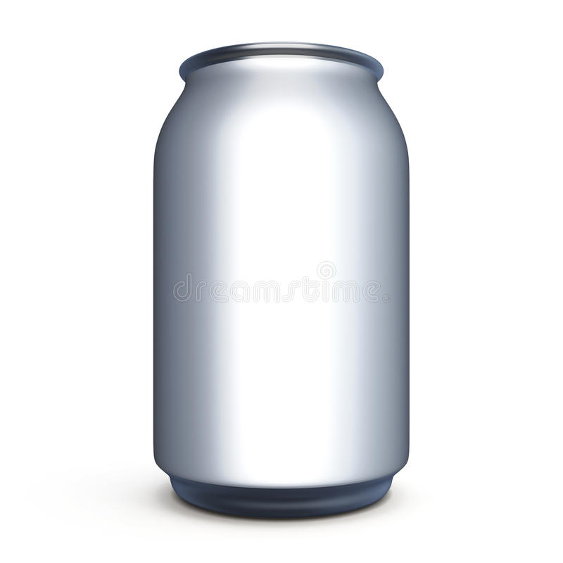 bank for beer soda without label for design stock illustration