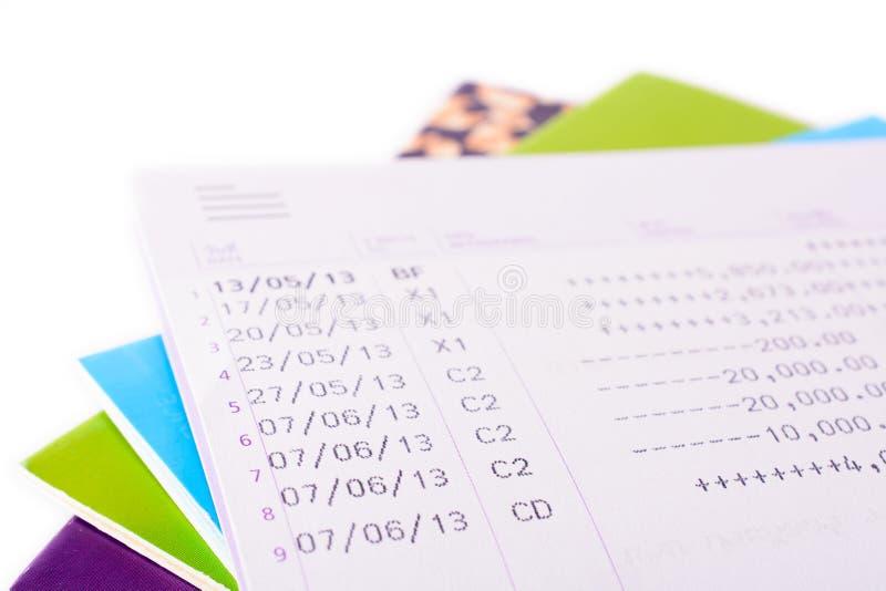 Bank book account balance. Isolated on white background royalty free stock image