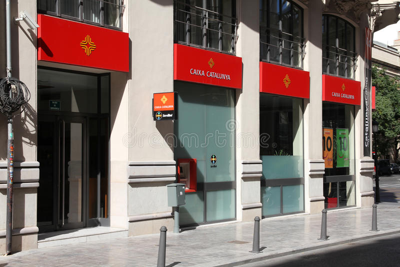 Bank branch in Spain royalty free stock images