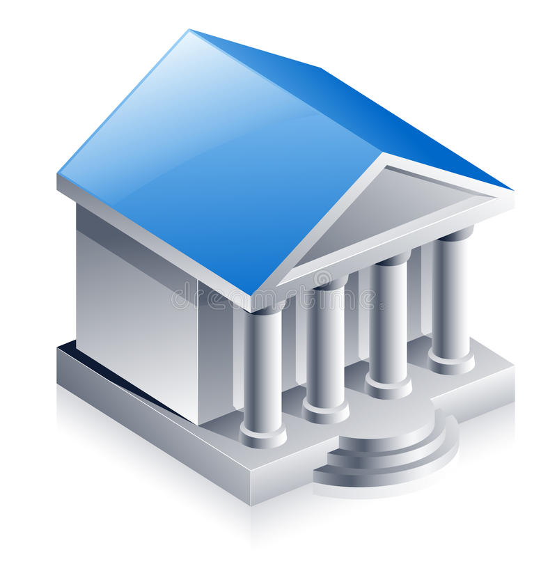 Download Bank building stock vector. Illustration of isometric - 22763033
