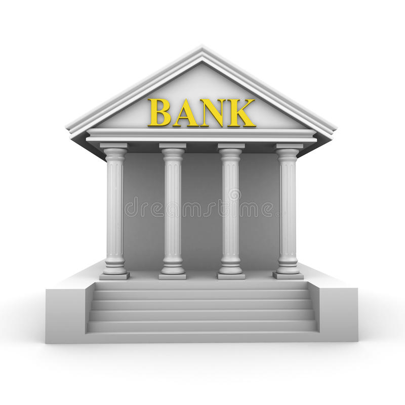 Bank building royalty free illustration