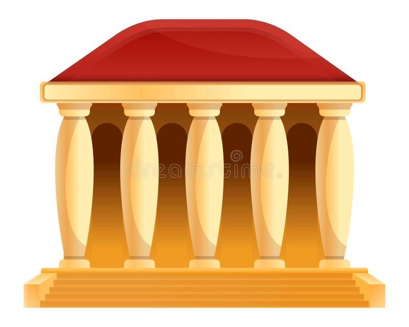 Bank building cartoon icon. Vector illustration royalty free illustration