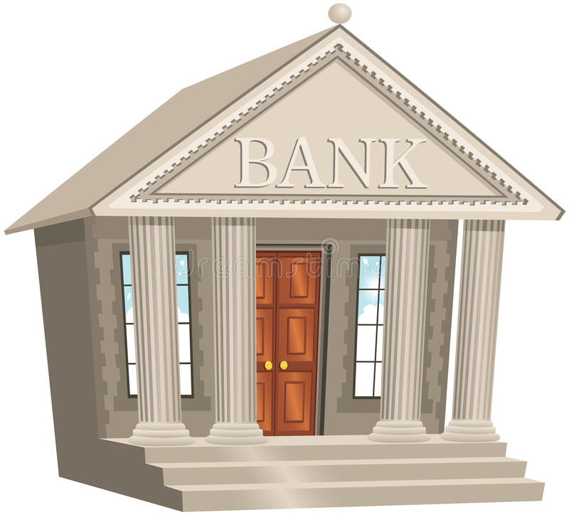 Download Bank Building Stock Vector Illustration Of Commercial