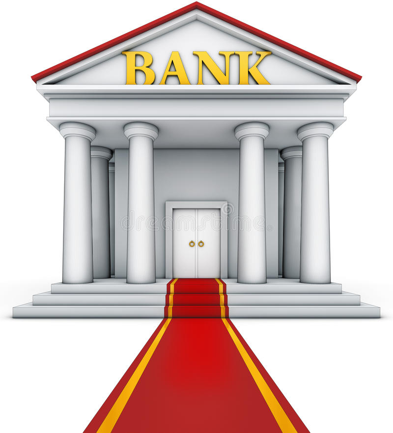 Download Bank building stock illustration. Image of fortune, credit - 32310546
