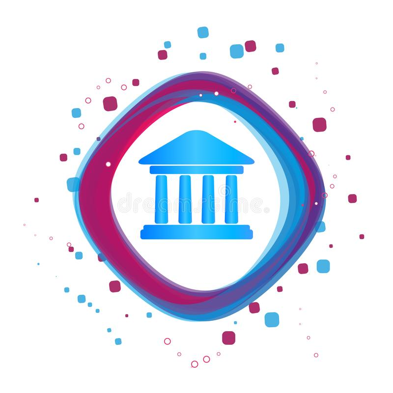 Bank Building Icon - Modern Colorful Vector Illustration - Isolated On White Background royalty free illustration