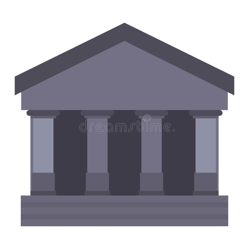 Bank building icon. On white background vector illustration royalty free illustration