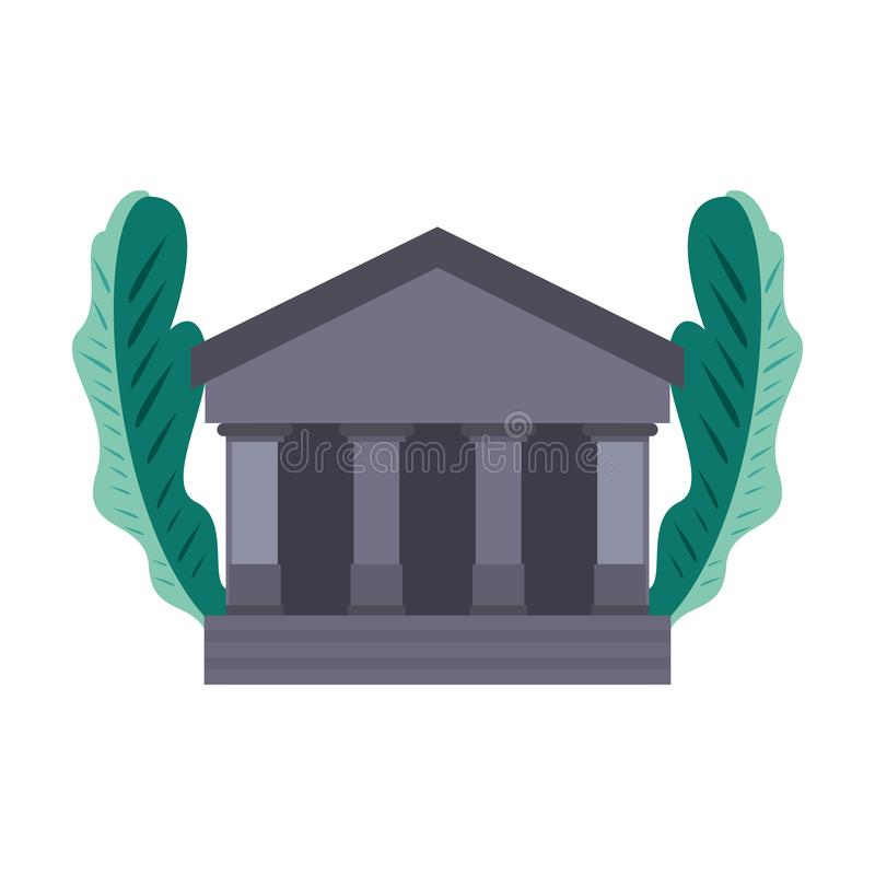 Bank building icon. On white background vector illustration vector illustration