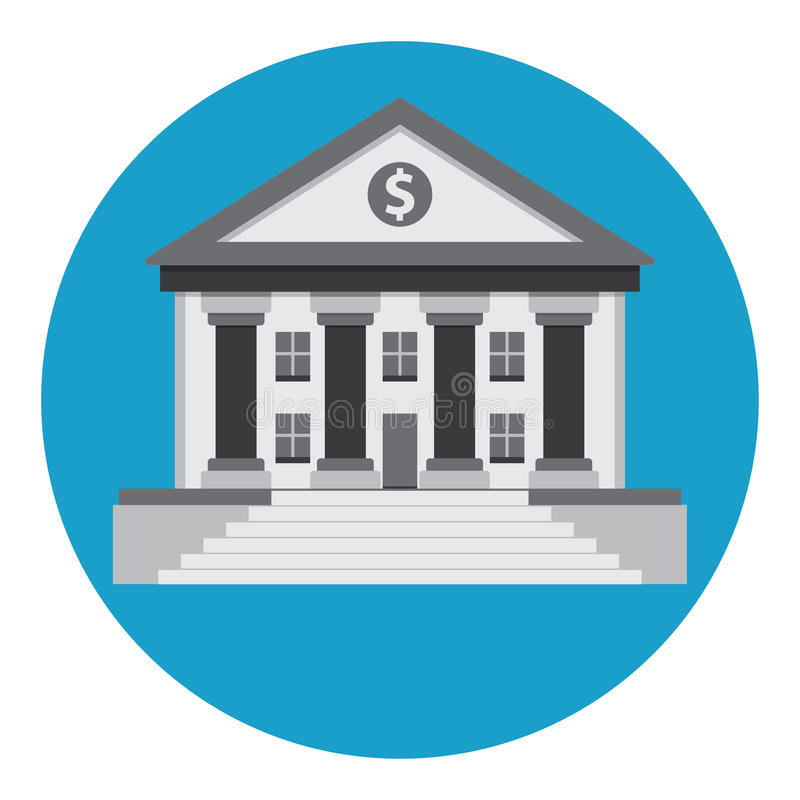 Bank building stock illustration