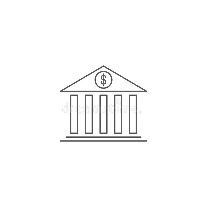 Free Bank Building Vector Icon Symbol Isolated On White Background Stock Photo - 164011960
