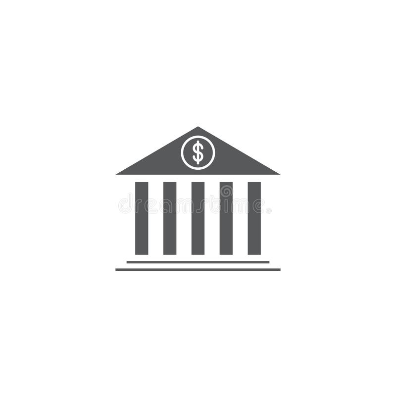 Free Bank Building Vector Icon Symbol Isolated On White Background Stock Image - 164011961