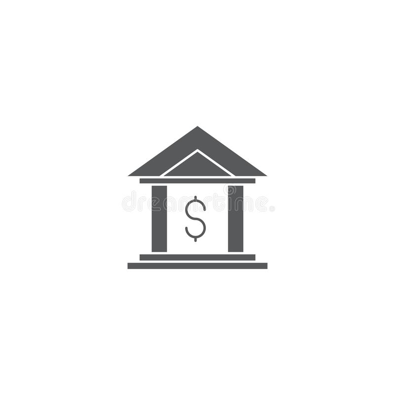 Bank building vector icon symbol isolated on white background royalty free illustration
