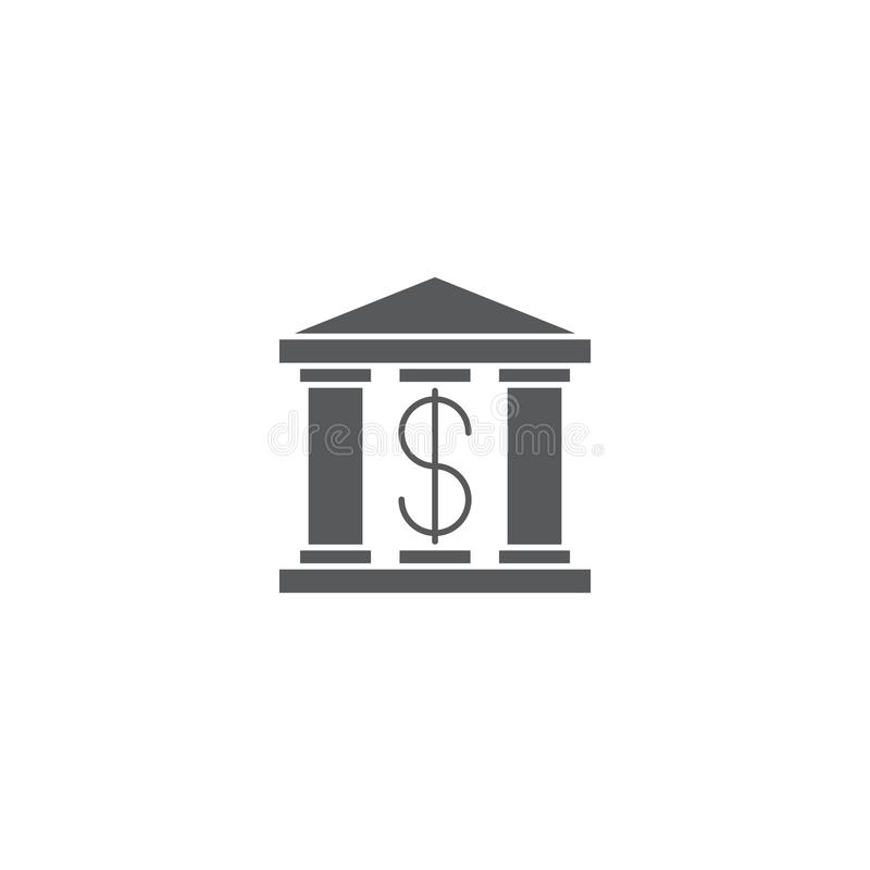 Bank building vector icon symbol isolated on white background stock illustration