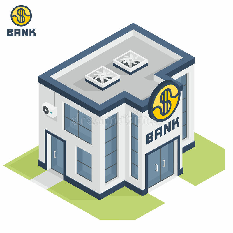 Bank building vector illustration
