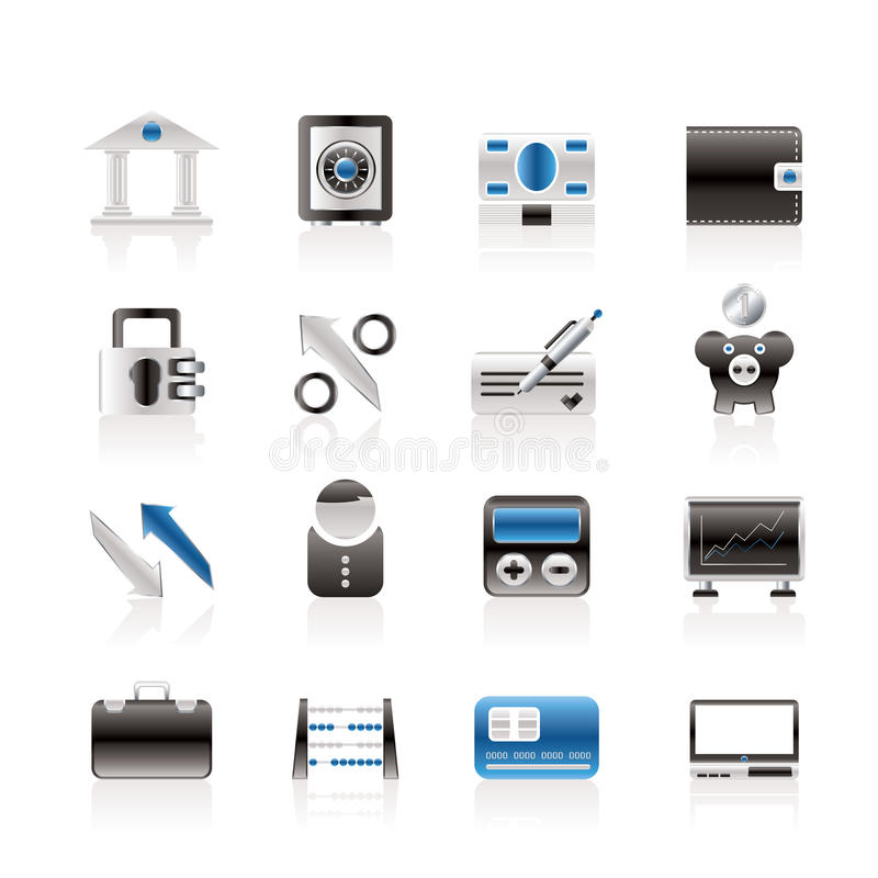 Download Bank, Business And Finance Icons Stock Vector - Image: 13771274