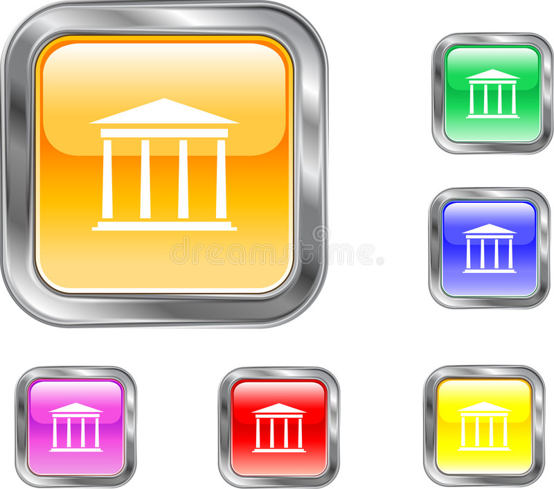 Download Bank Button stock vector. Image of rates, mortgage, icon - 4706608