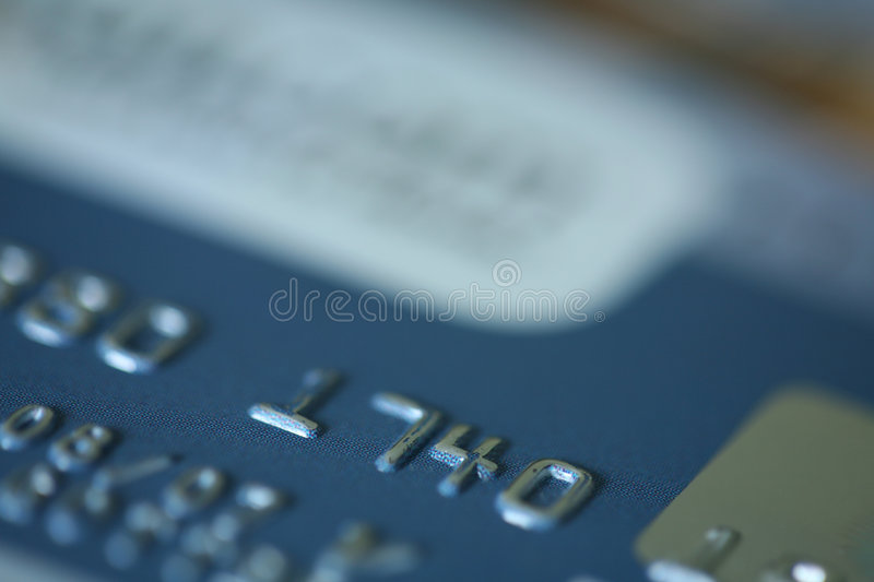 Bank Card stock photography
