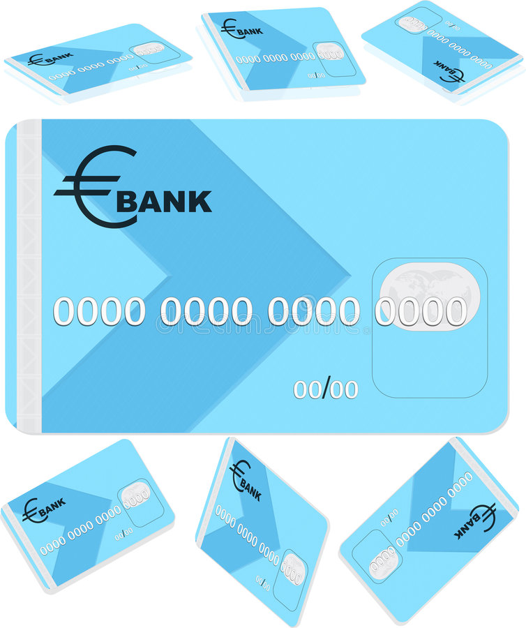 Bank card royalty free stock photography