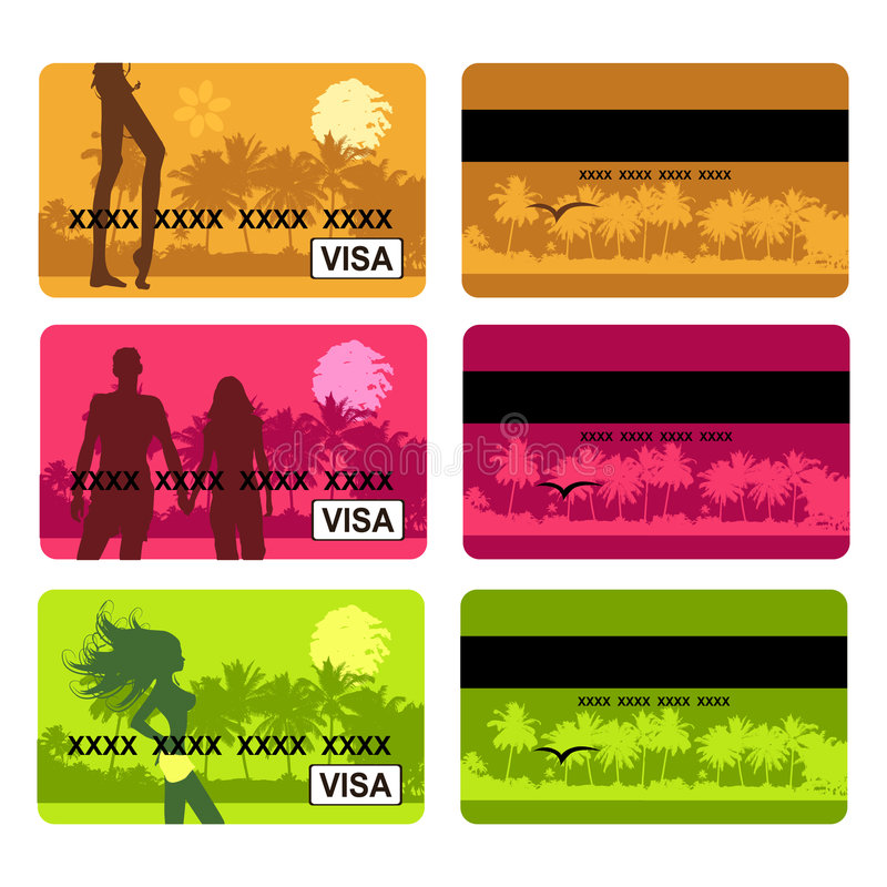 Bank Card Design, Holiday And Travel Royalty Free Stock Photography