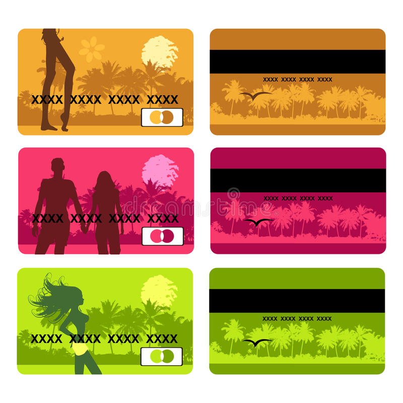 Download Bank Card Design, Holiday And Travel Stock Vector - Image: 9612776