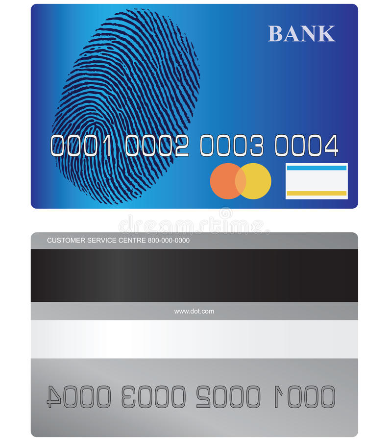 Download Bank card stock vector. Illustration of commercial, blue - 32506408